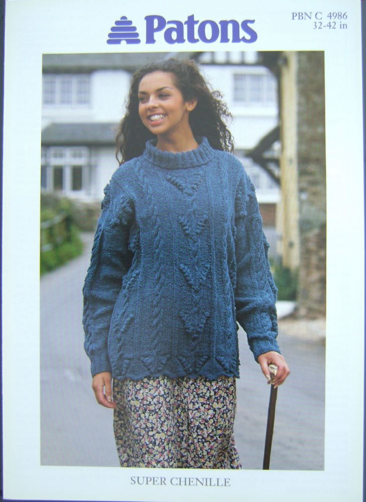 Patons Knitting Pattern 4986